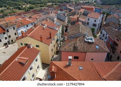 Roofs of Vrsar. Croatia