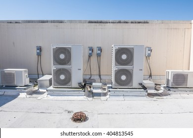 A rooftop heating and cooling system.