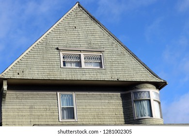 Rooftop of old historic 1800s Victorian New England home