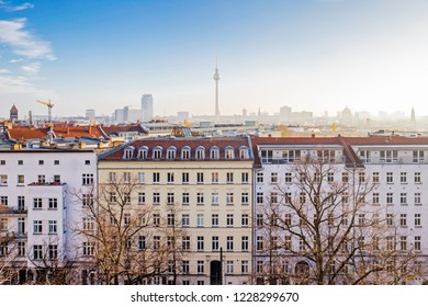Rooftop panorama of Berlin from Zionskirche, Berlin, Germany