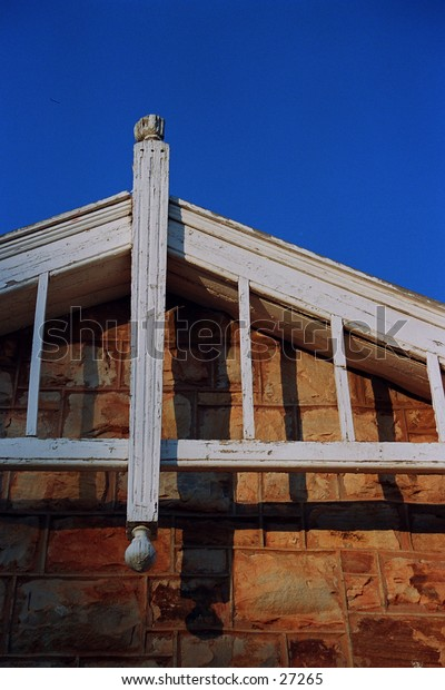 Rooftop of a sandstone building in Delmas, South Africa