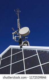 Rooftop solar electric power station and telecommunication beam antenna