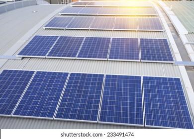 Rooftop solar panels in Sydney, Australia
