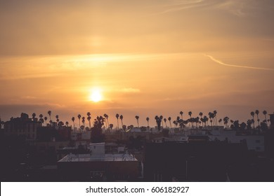 rooftop sunset view in Los Angeles