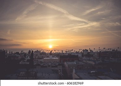 Rooftop sunset view in Los Angeles / Korea town