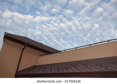 Rooftop with thick clouds
