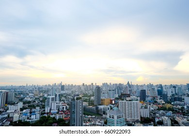 Rooftop view in Bangkok Thailand