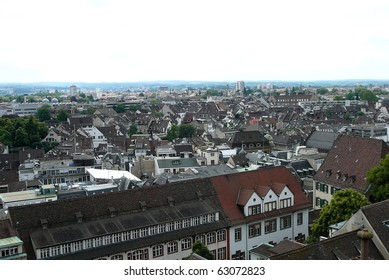 Rooftop View in Basel, Switzerland from Cathedral