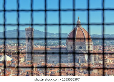 Rooftop view of Basilica di Santa Maria del Fiore in Florence,Italy.