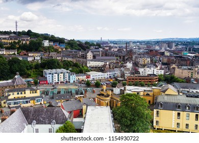 Rooftop view of Cork in Ireland from Shandon Bells and Tower St Anne's Church