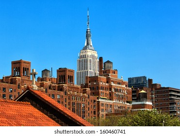 Rooftop view of the Empire State Building.