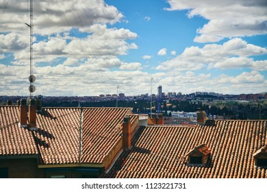 Rooftop view in Madrid