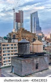 Rooftop views along Midtown West in Manhattan, New York.