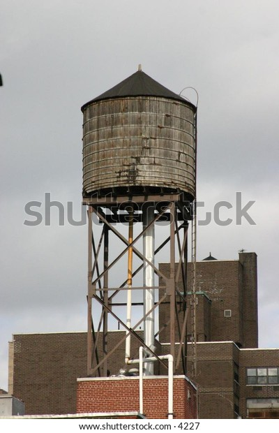 rooftop water tower