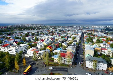 Reykjavík rooftops from Hallgrímskirkja