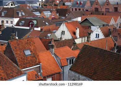 Rooftops in Bruges