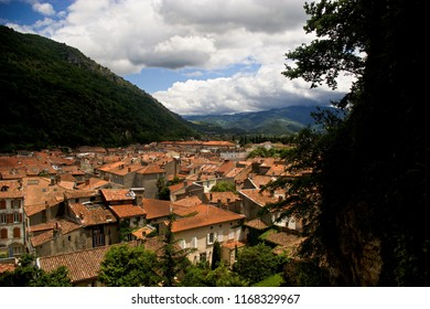 Rooftops of Foix, Ariege, France