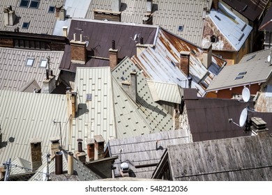 Rooftops at the french alps