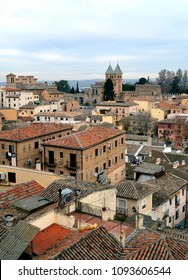 Rooftops in the Medieval town of Toledo towards the city walls