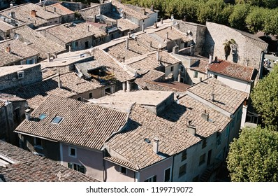 Rooftops of the medieval village of Viviers, Ardeche, France