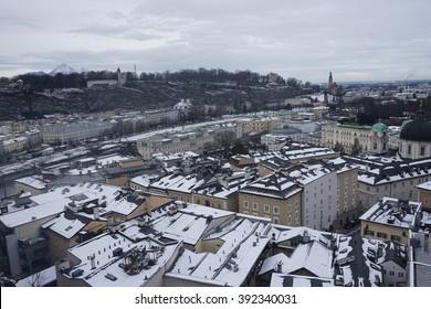 Rooftops in Saltzburg, Austria