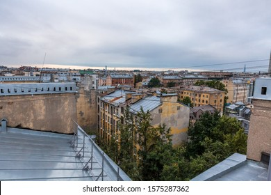 Rooftops tour at historic center St. Petersburg, Russia.