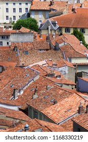 Rooftops of the town of Foix, Ariege, France