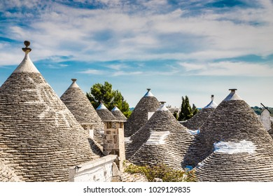 Rooftops Of Trulli Houses - Alberobello, Apulia Region, Italy, Europe