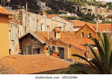 Rooftops view, old town Cannes, Cote d'Azur, France