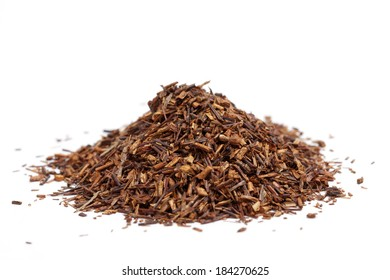 rooibos tea on white background
