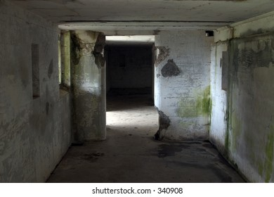 Room in abandonded jail.