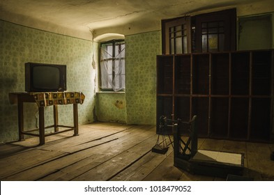 Room in an abandoned house