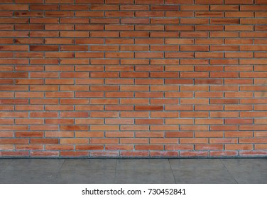 Room brick wall interior