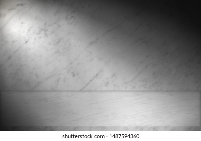 Room cement empty grey texture background.Modern room.  Creative design gray floor.Luxury interior concrete home brick wall white marble background.Abstract white marble of flooring.Montage display.
