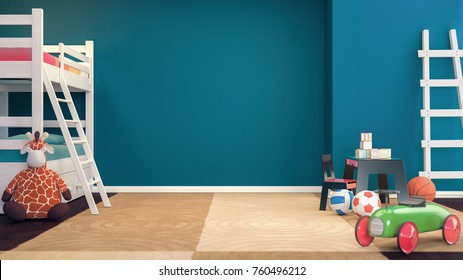 The room for the children. 3d rendering and illustration.