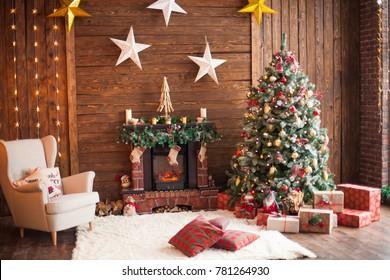 Room with Christmas decor