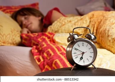 room clock bed lazy sleep wake alert