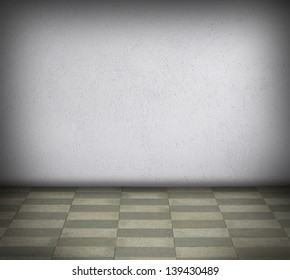 Room with concrete pattern wall background
