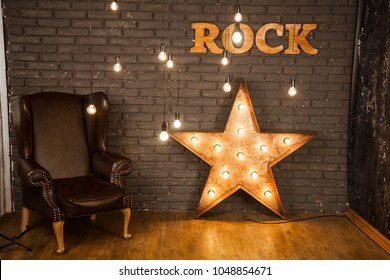 room decoration in rock style