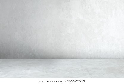 Room empty of cement floor with gray room cement or concrete wall texture background and sun light. - Shutterstock ID 1516622933