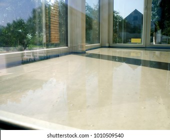 room with fresh liquid floor