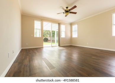 Room Of House with Finished Wood Floors.