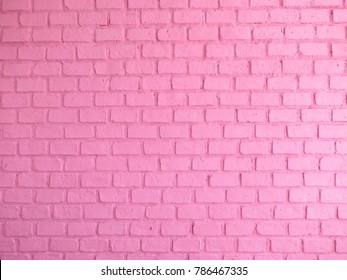 Room interior with pink brick wall