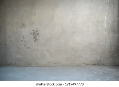 Room interior without decoration in gray colors