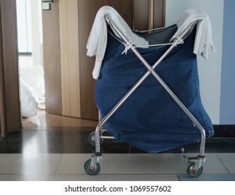 Room maids trolley at a hotel