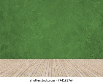 Room painted with brush strokes wall