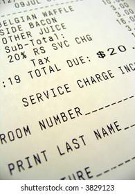 Room Service Bill