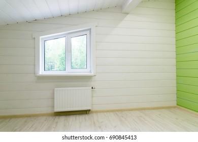 Room with window and radiator