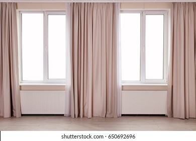Room windows with light curtains
