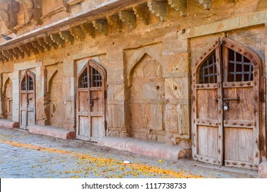 Rooms at the ancient Amber Fort in Rajasthan, India.